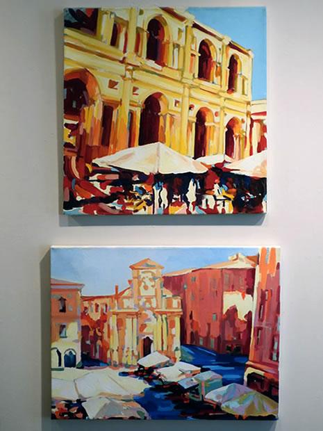 Pasta Beach ArtPop Bruno Cassetta paintings