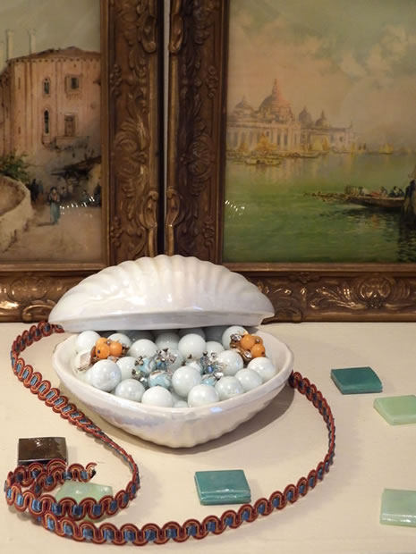 Pasta Beach ArtPop ceramic heart vignette