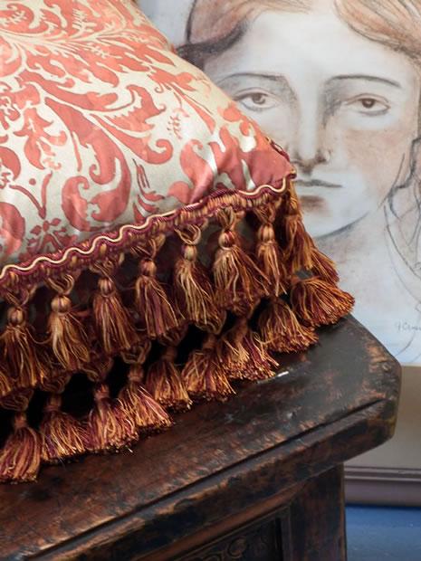 Pasta Beach ArtPop pillow, chair and painting